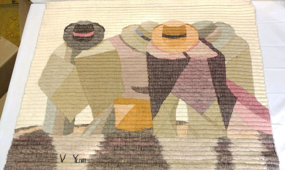 Peru Wool Signed Tapestry Raquel S Collection Hand Woven By V Yuri Wall Hanging Tapestry Wall Hanging Hand Weaving