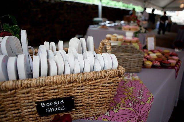 Flip-flop Basket For Dancing At Wedding Reception