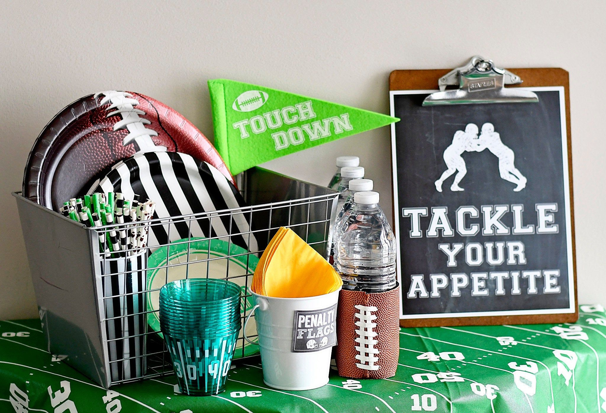 Football Birthday Party Tackle Your Appetite Instant