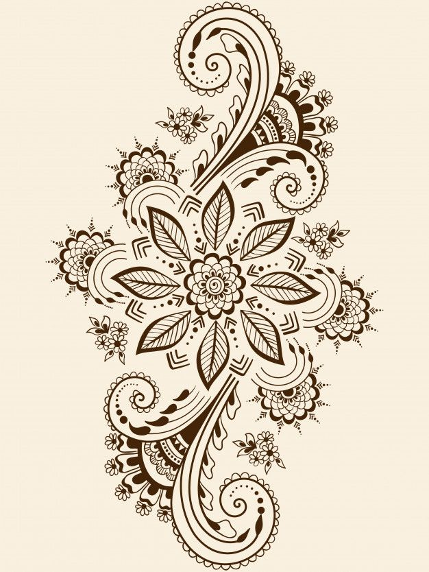 Download Illustration Of Mehndi Ornament for free