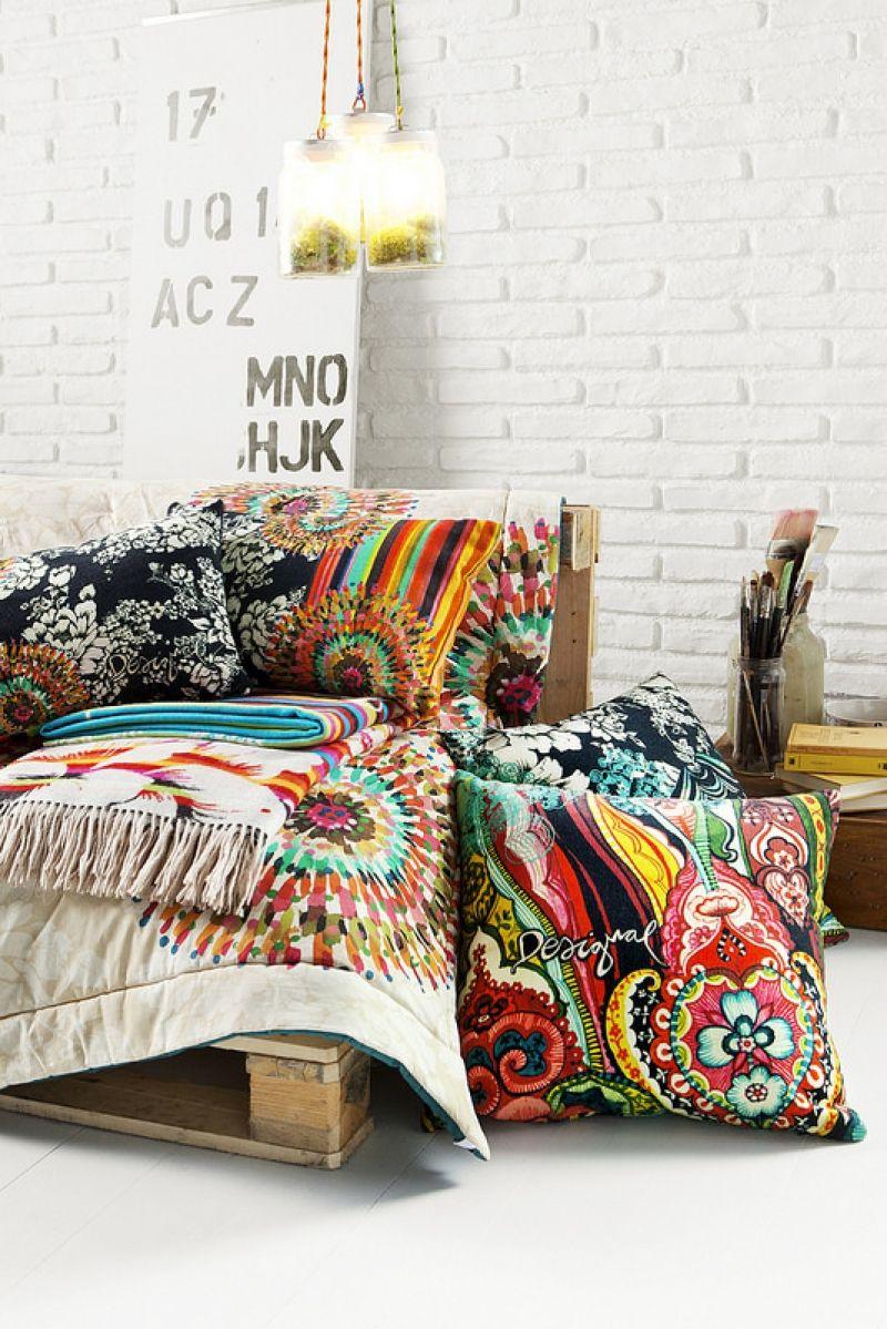Esprit patchworks de desigual home i boho home bedroom bohemian interior et decor - Desigual home decor ...