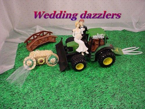 JD Tractor Groom Cake Sunflower themed John Deer Wedding Fun topper ...