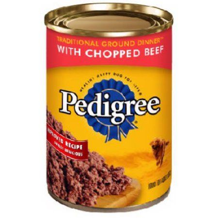 Pedigree Meaty Ground Dinner With Chunky Beef Canned Dog
