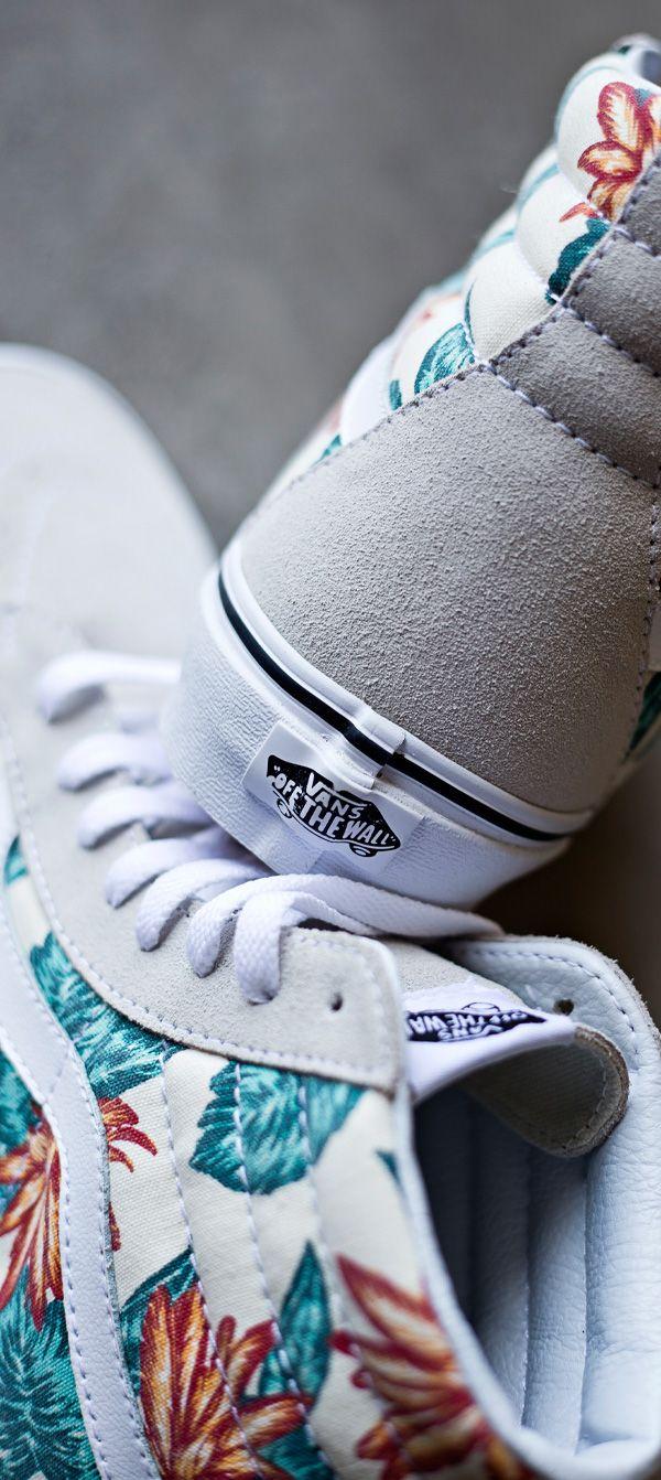 vans sk8 hi vintage aloha print   Shoes, Sneakers, Shoe boots