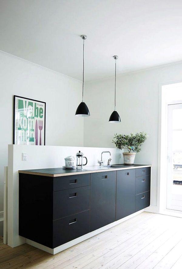 Cucine Nere Minimalist Kitchen Interior Kitchen Interior
