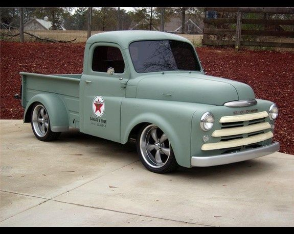 1950 Custom Dodge Pickup One Of My Favorites Love The Flat Color Like Going Fast Call Or Click 1 Vintage Trucks Classic Cars Trucks Old Pickup Trucks