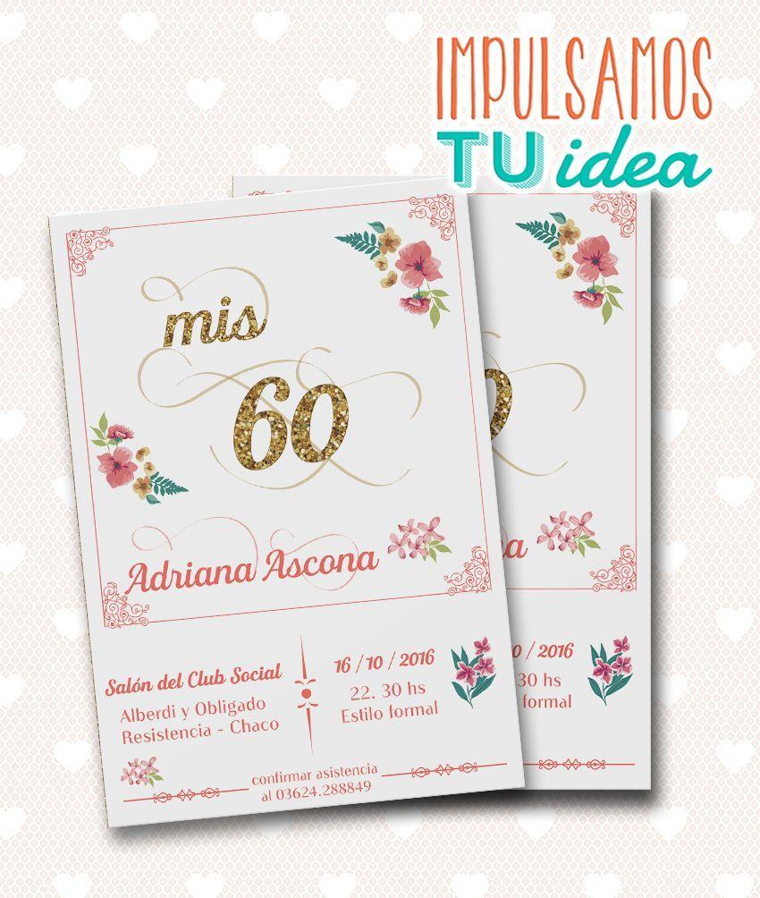 Tarjetas De Cumpleanos 60 Anos Mujer Para Imprimir