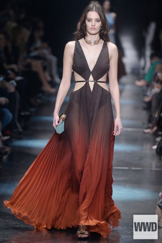 wwd - Roberto Cavalli RTW Fall 2015  Photo by Davide Maestri  Here was an eclectic collection of slinky, showy and sexy clothes unified by dense decoration. For More  For all RTW Fall 2015