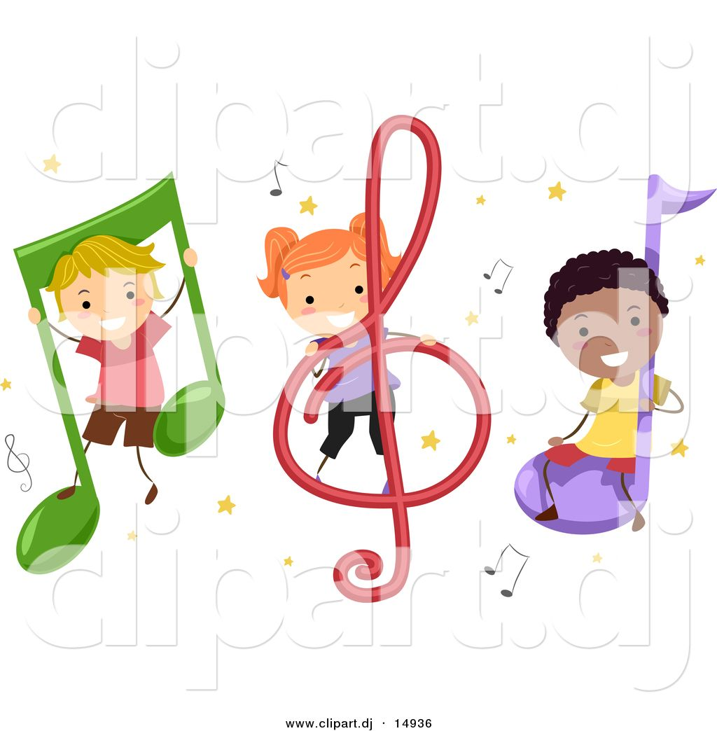 music cartoons pictures | students with music notes music ...