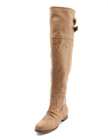 buckled pleather thigh high boot russe i want