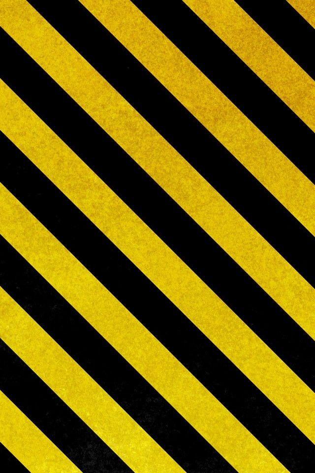 Caution Tape Pattern Yellow Wallpaper Black Wallpaper Black Wallpaper Iphone