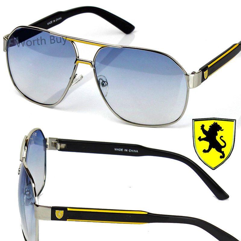 844aff3b13 New Khan Eyewear Mens Designer Fashion Sunglasses Shades Retro Silver Blue  Pilot   5.99 (0 Bids) End Date  Thursday Nov-8-2018 11 46 26 PST…