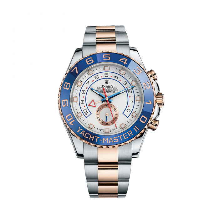 Rolex Yacht-Master II 116681 Rose Gold & Stainless Steel Watch (White) #stainlesssteelrolex