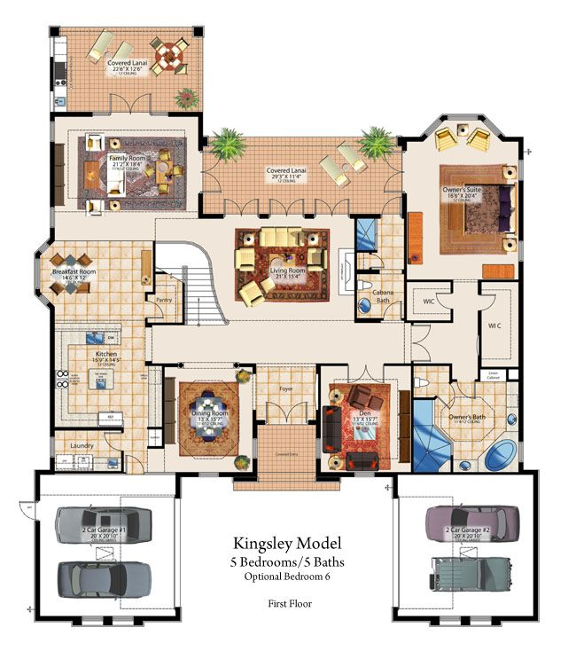 Central Florida New Homes At Red Tail Luxury Golf Community In Sorrento Fl Floor Plans Modern House Plans House Floor Plans