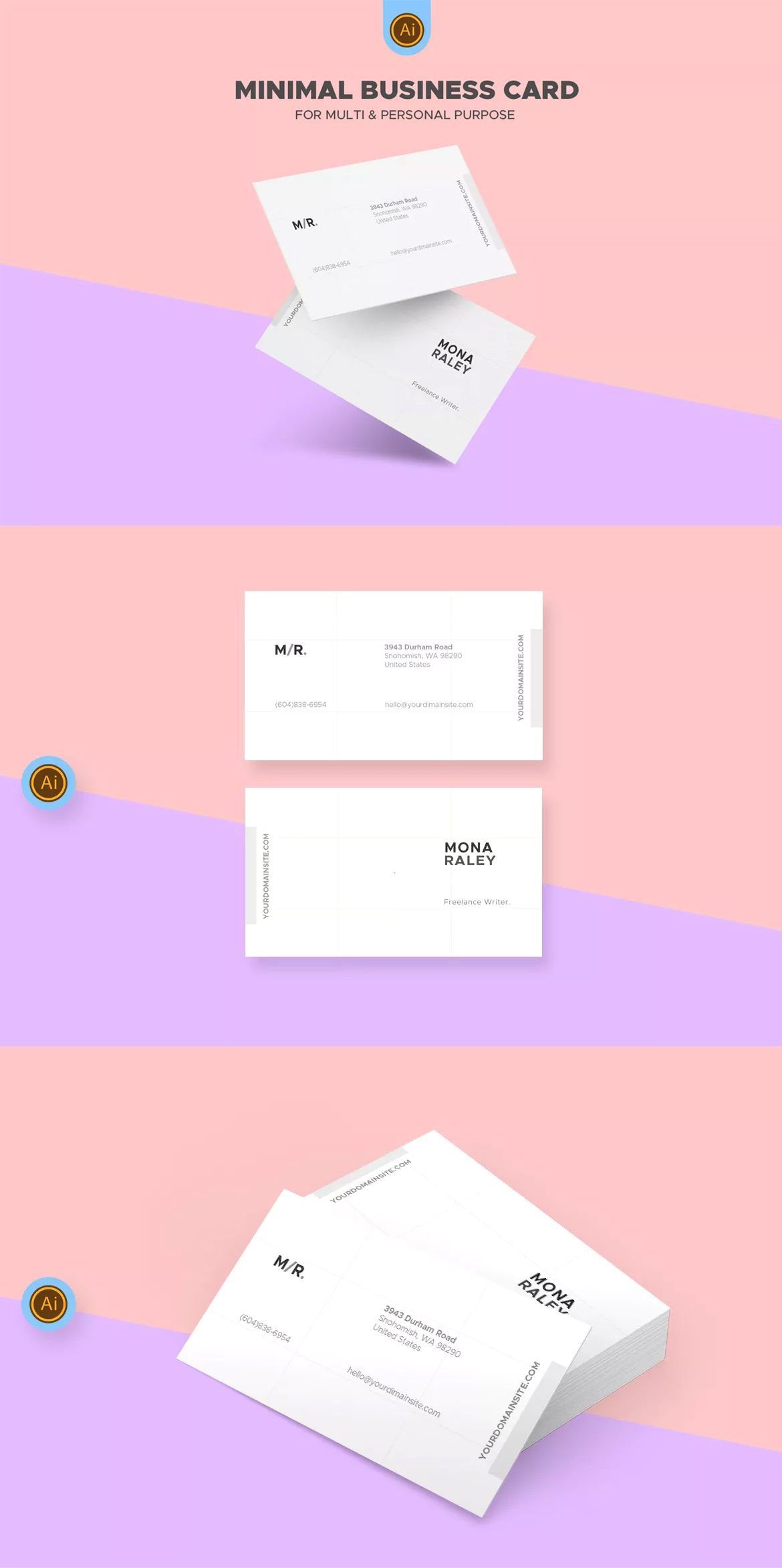 Clean Freelance Writer Business Card By Afahmy On Business Card