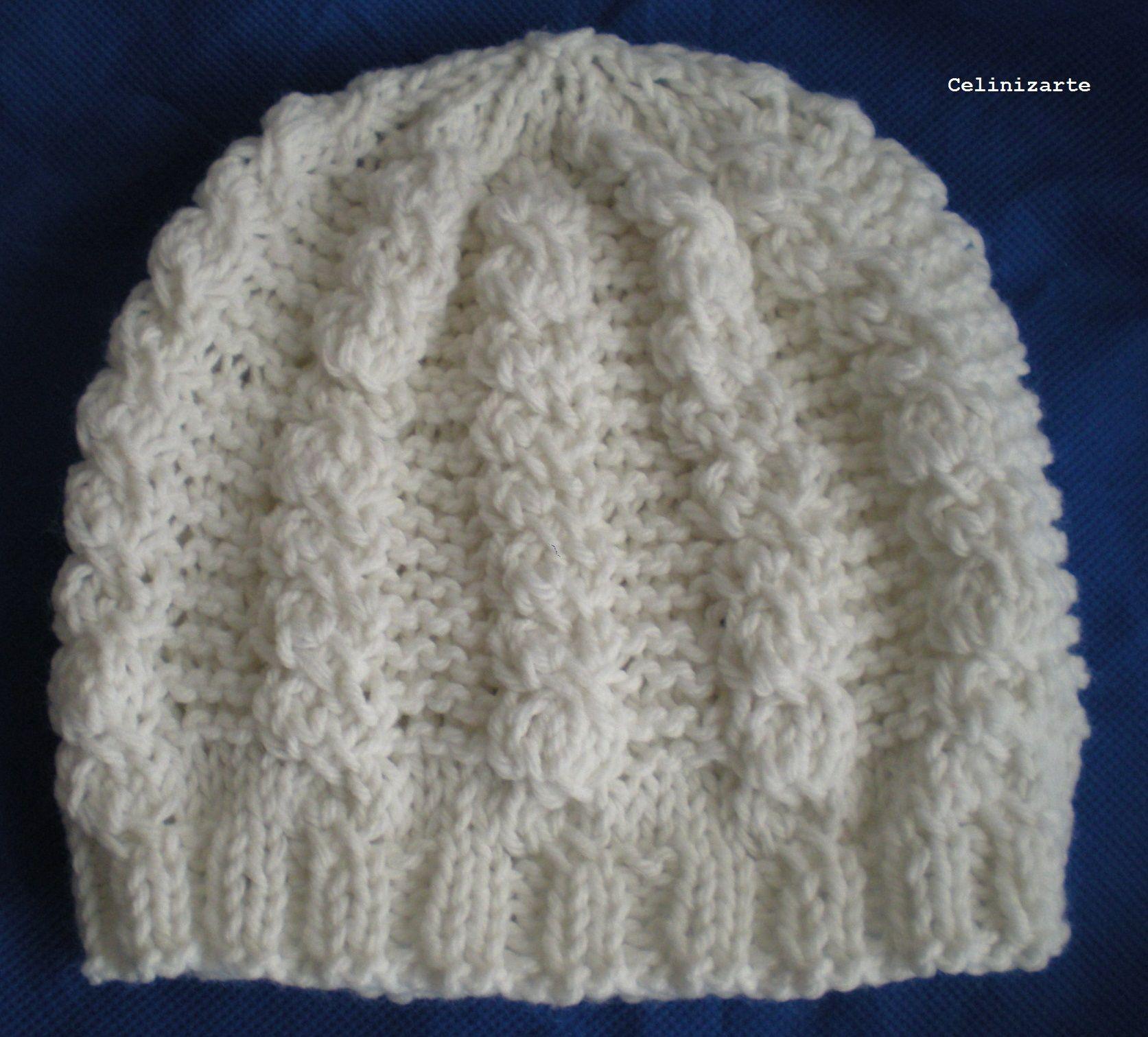 Gorro tejido en dos agujas | Manualidades y artesanías | Pinterest ...