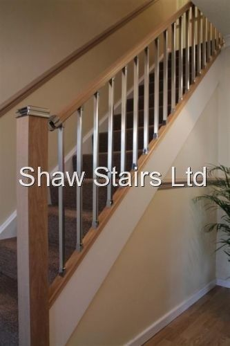 Staircase Solution Stair Parts Refurbishment Stairs Kit Chrome Or Brushed  Metal