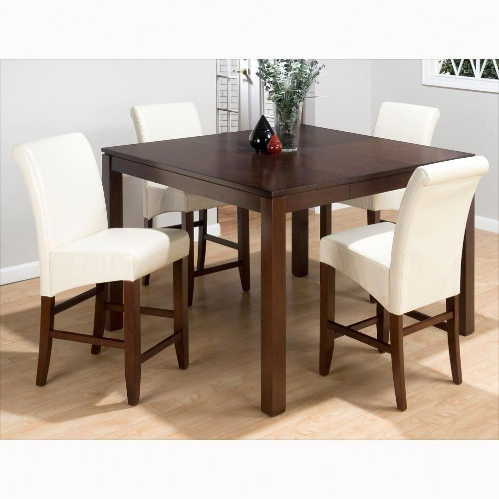 Bar height square kitchen table  Carlsbad Counter Height Table u Ivory Stools Jofran