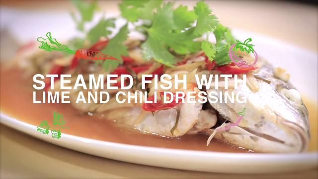 Ep 7 steamed fish with lime and chili dressing home cooked cook this simple and healthy fish dish known as ikan stim daun limau dan cili in malay by food hero ili sulaiman forumfinder Choice Image
