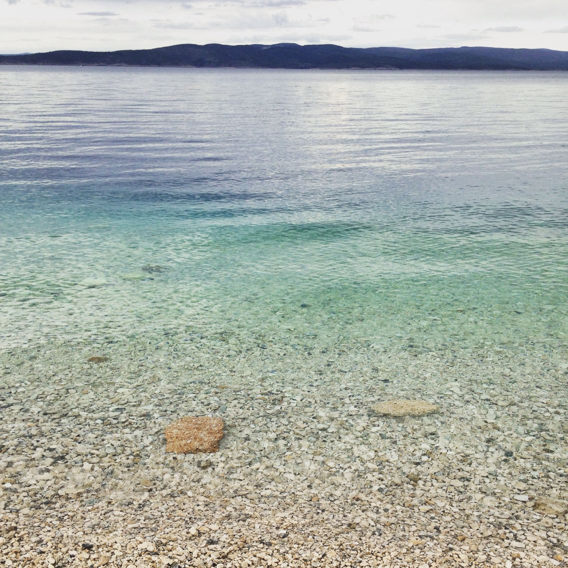 Green sea in Croatia, at Makarska Chorvatsko