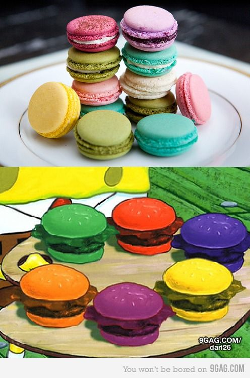 Colored Krabby Patties : colored, krabby, patties, Rainbow, Krabby, Patties!, Savoury, Cake,, Pumpkin, Macaroons