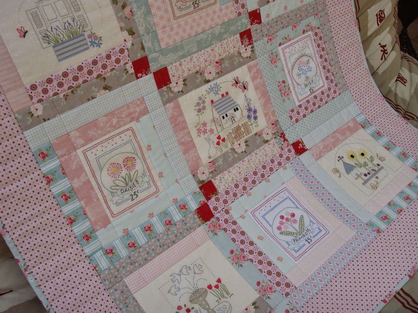Le Jardin Quilt (designed by Bronwyn Hayes of Red Brolly Designs ... : le jardin quilt pattern - Adamdwight.com