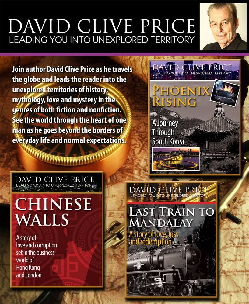 Kimb Manson Graphic Design just finished this table top promotional poster for David Clive Price and his book series