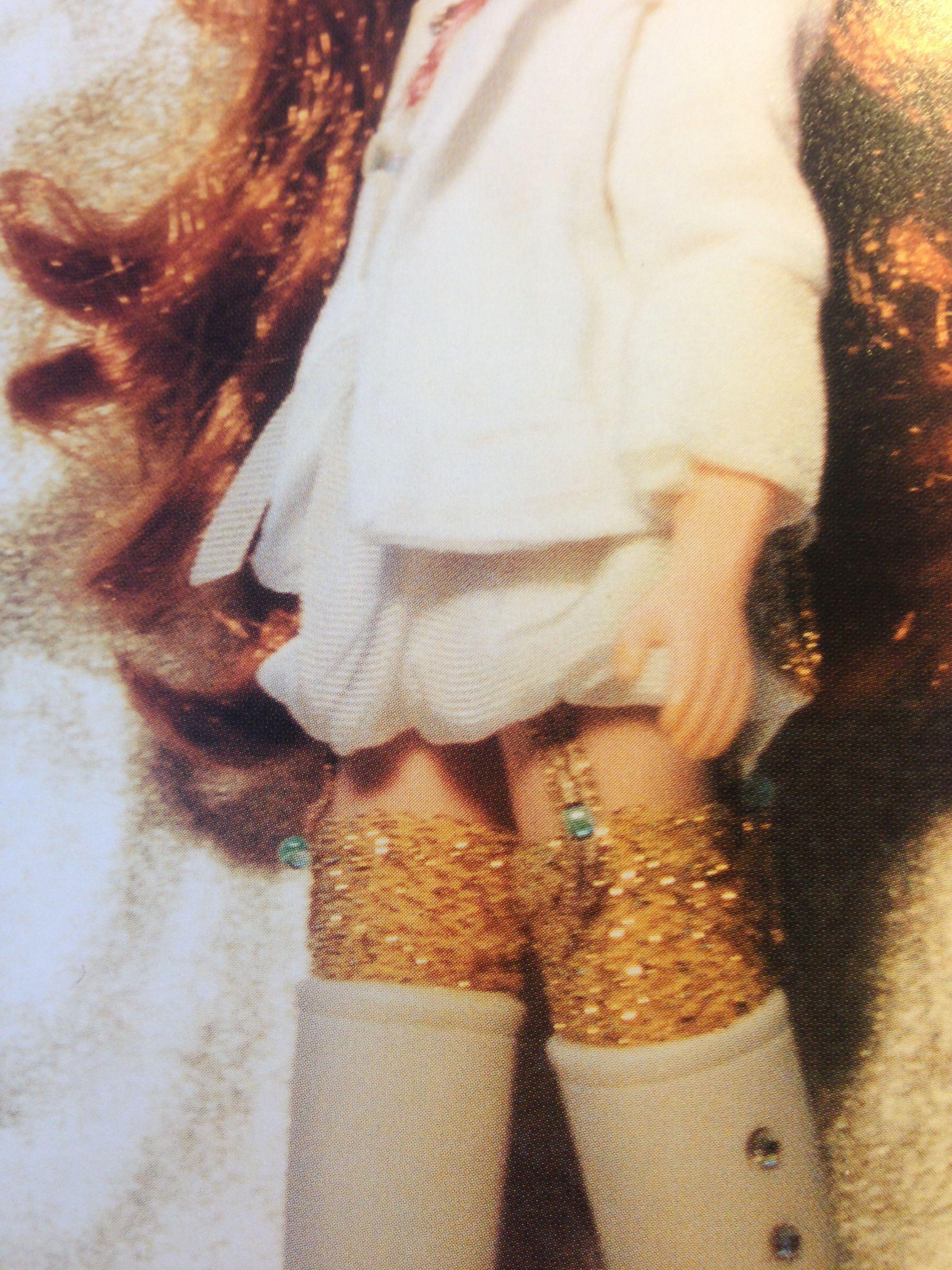 puff ball skirt and glitter knee highs