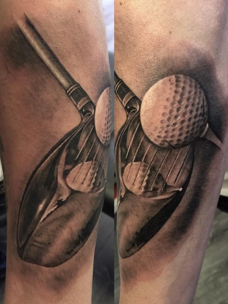 40 Golf Tattoos For Men – Manly Golfer Designs