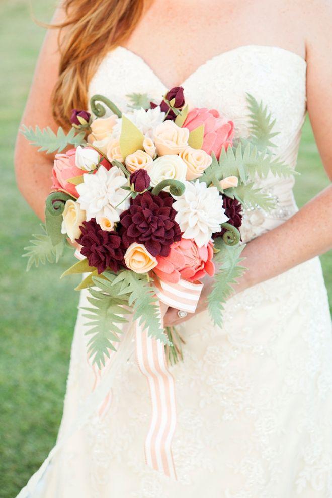 How To Make The Most Gorgeous Felt Wedding Bouquet!   DIY Wedding ...