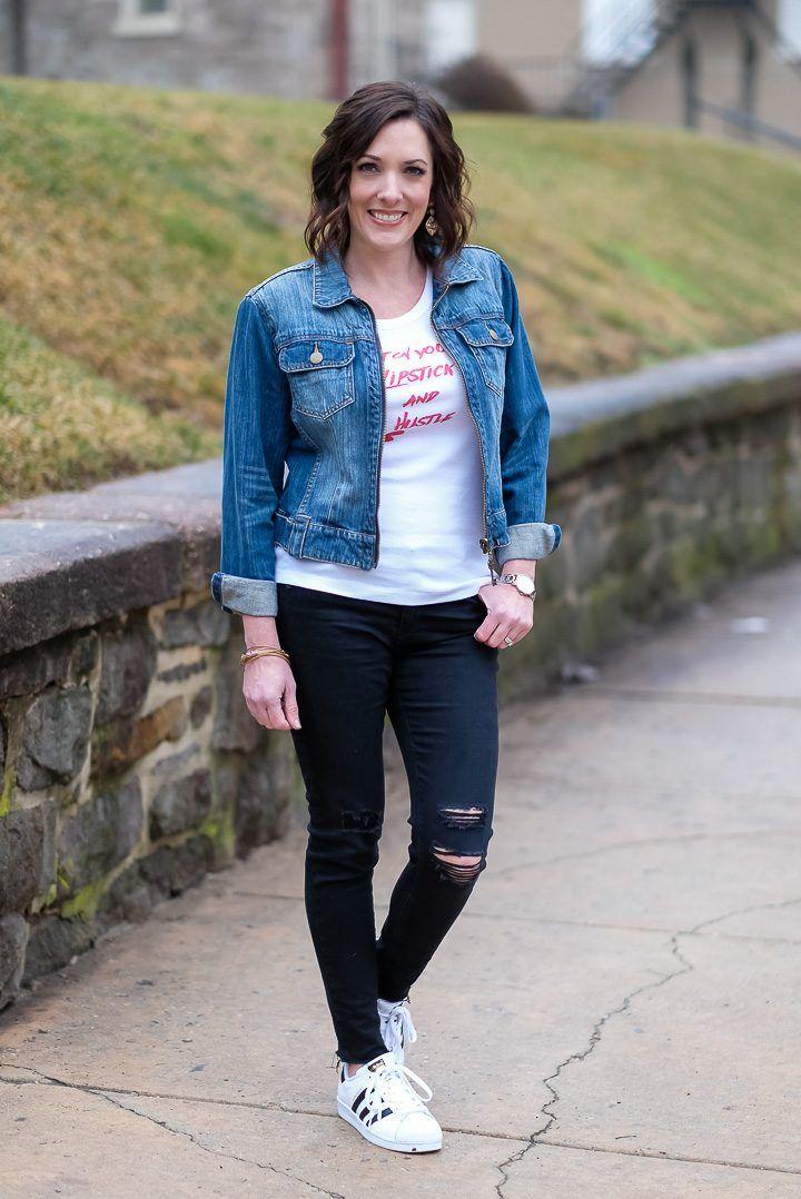How To Wear A Denim Jacket Denim Jacket Women Blue Jean Jacket Outfits Jean Jacket Outfits