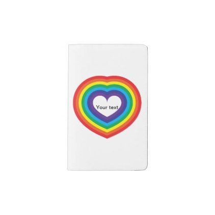 Rainbow heart pocket moleskine notebook | Pinterest