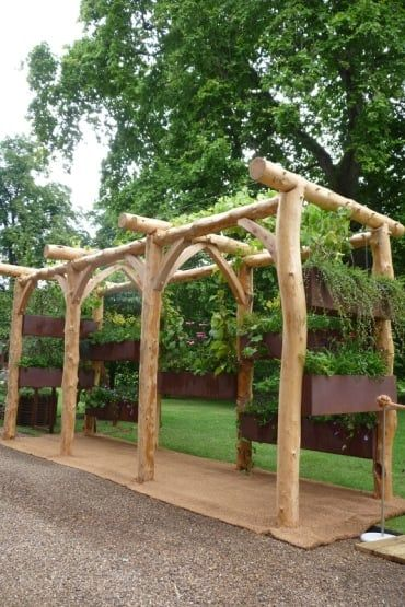 Round Pole Timber Frame Garden Pergola See More Projects