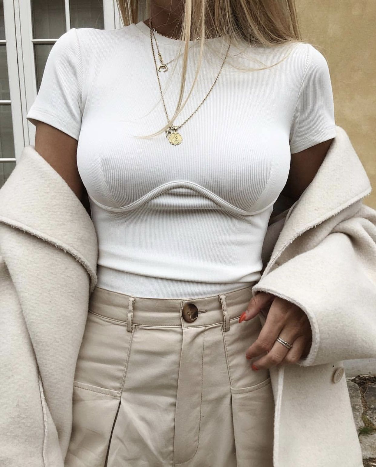 Vintage Underlined White Top | Shop now!