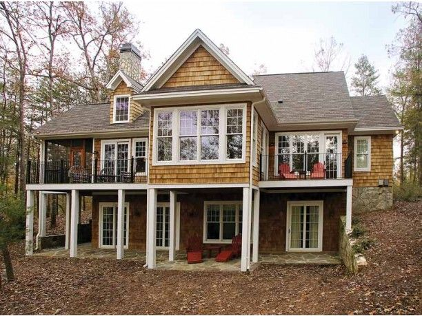Eplans craftsman house plan handsome craftsman for 2 bedroom lake house plans