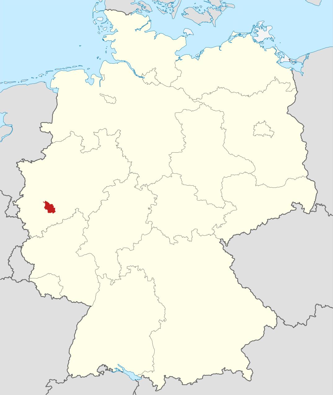 deutschland karte köln Deutschlandkarte, Position der Stadt Köln hervorgehoben