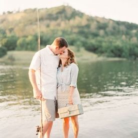 A beautiful engagement session on the lake where he proposed (Photos by Jessica Burke)