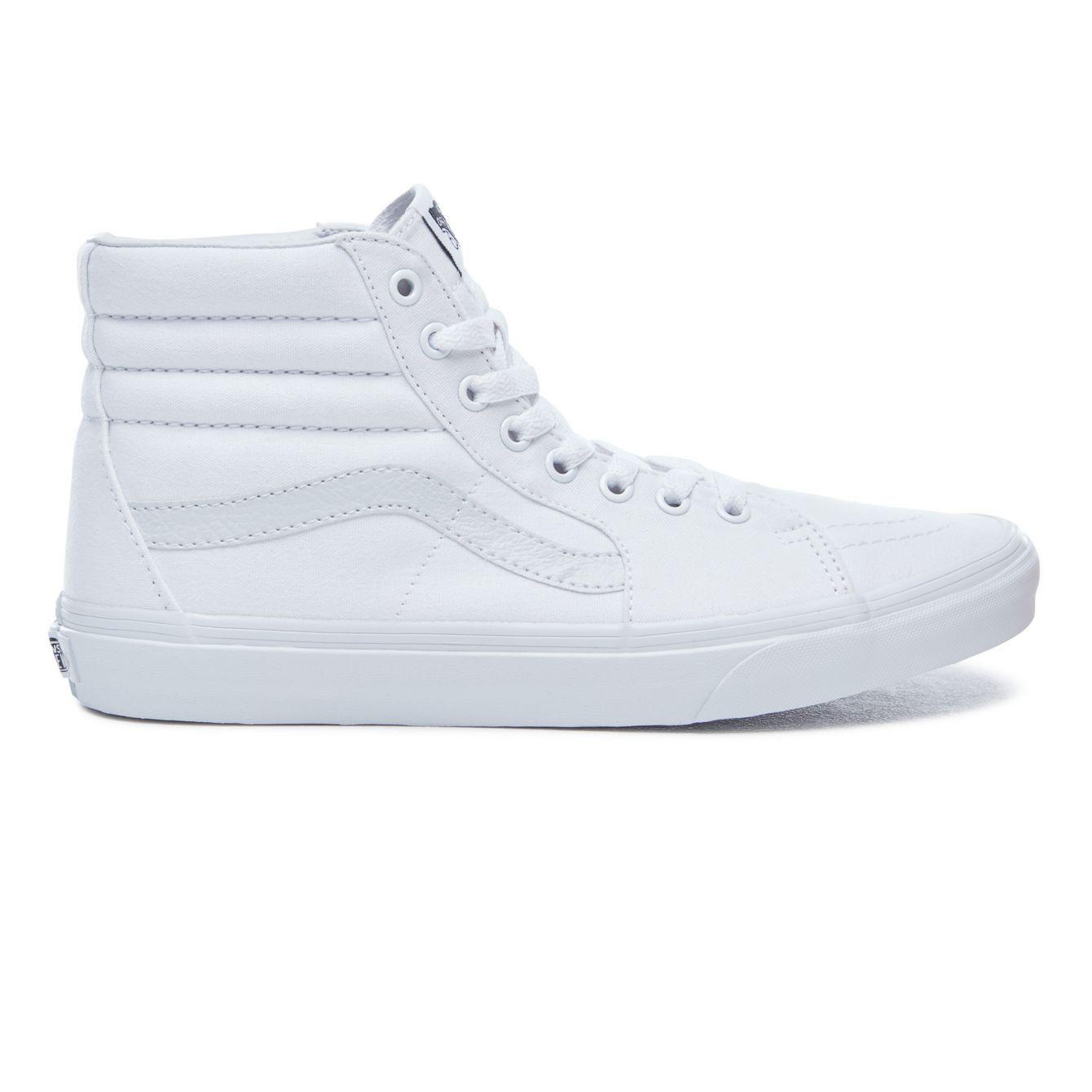 Vans Sk8-Hi True White Shoes | Chaussure, Acheter chaussures ...