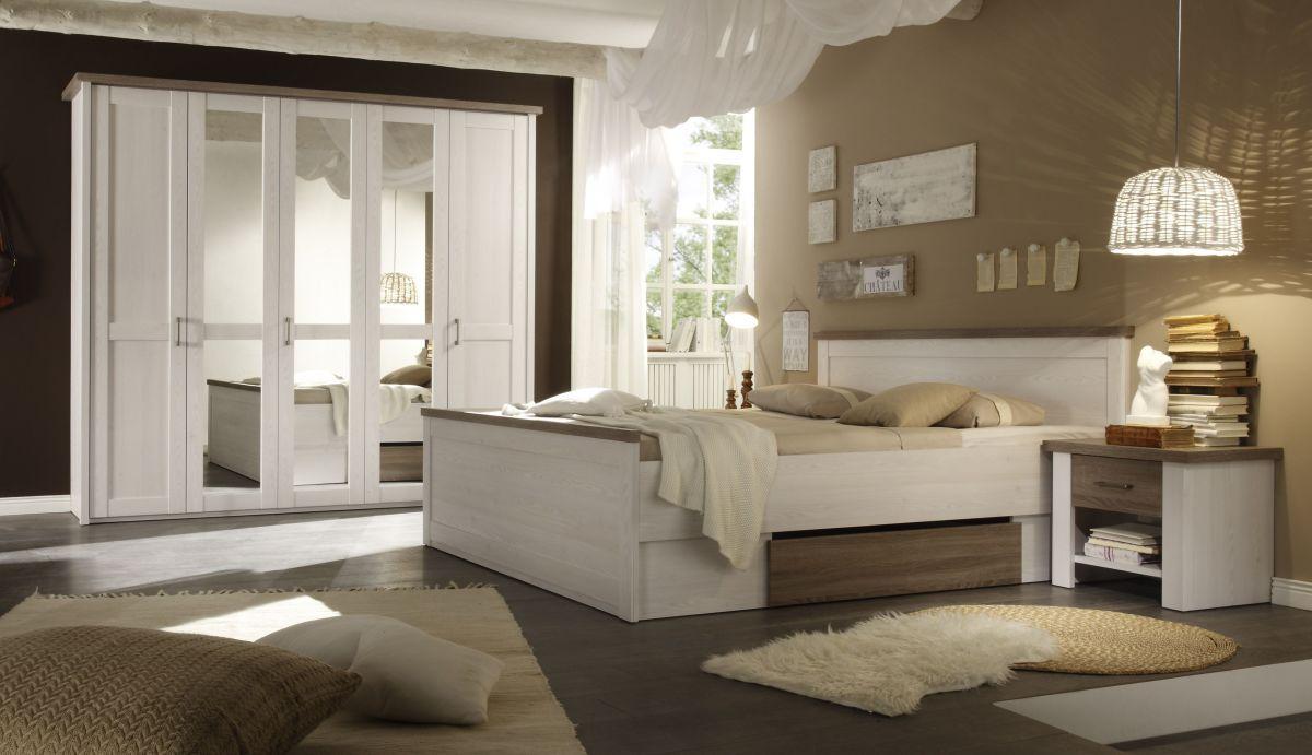 Schlafzimmer Pinie ~ Exklusive schlafzimmerkombination amsterdam tlg pinie weiß eiche