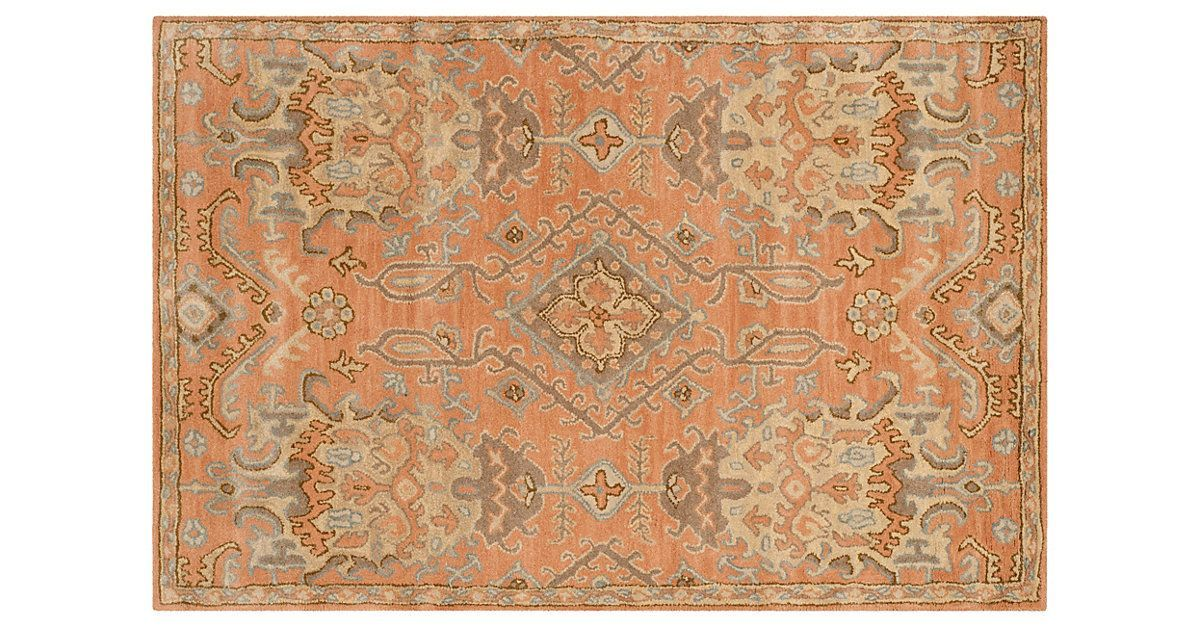 This richly-hued rug is hand-tufted by master weavers, using only the finest quality wool. It is designed to recreate the one-of-a-kind look of overdyed antiques, with special multicolored yarn...