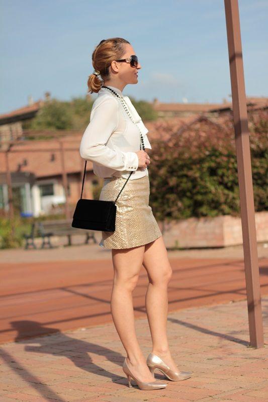 Margaret Dallospedale, Fashion blogge Shimmery Golden  #kissmylook