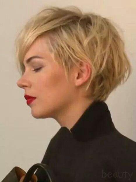Short Hair Style Kortharsfrisurer Klipning Og Kort Har