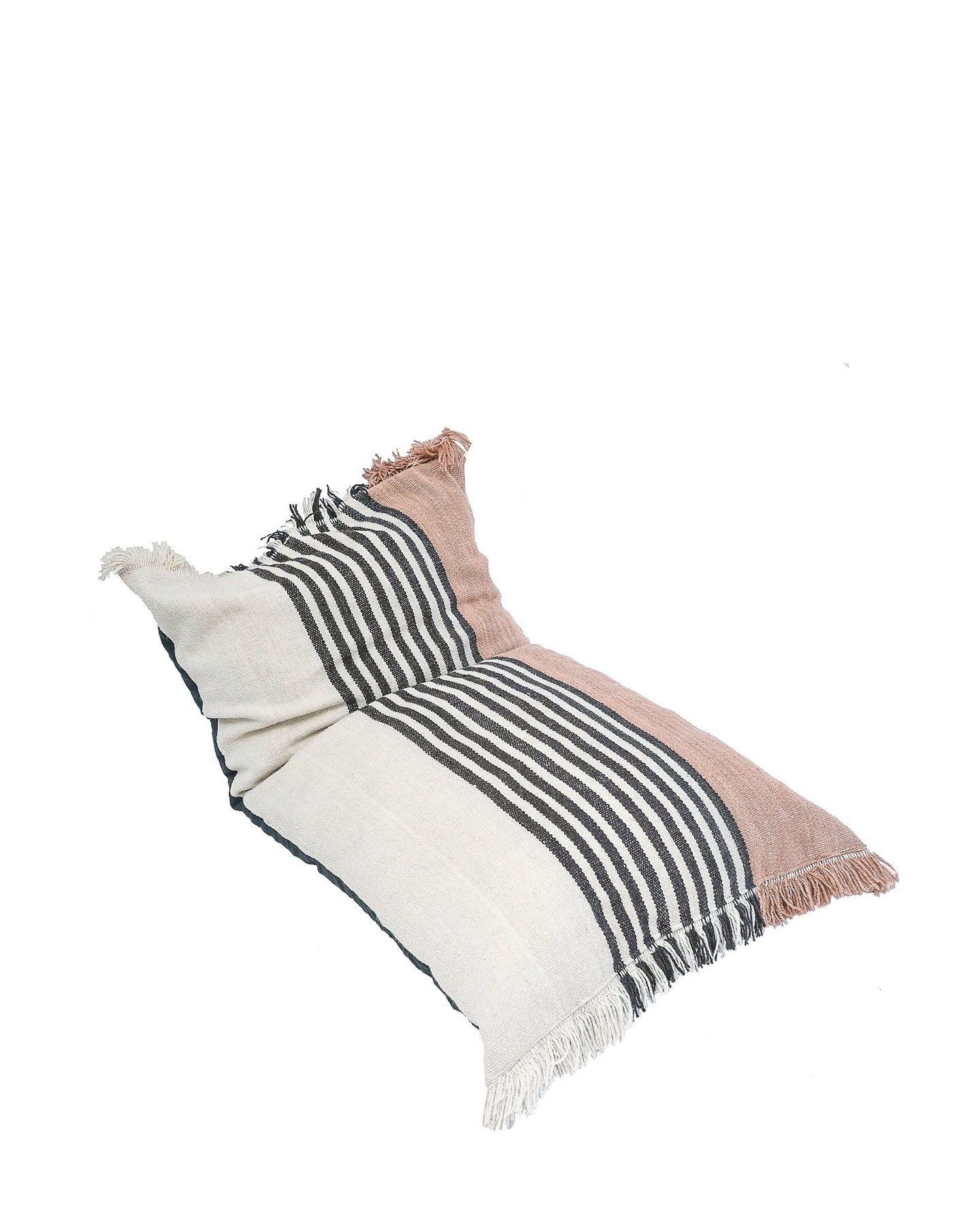 Pillows & Throws > Floor Cushion  Blush Sendero Handwoven