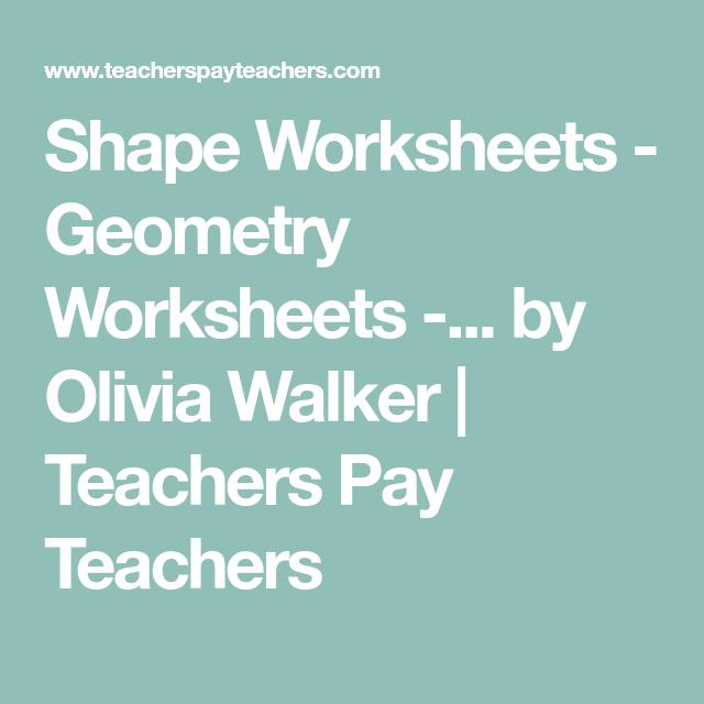 Shape Worksheets - Geometry Worksheets -... by Olivia Walker ...