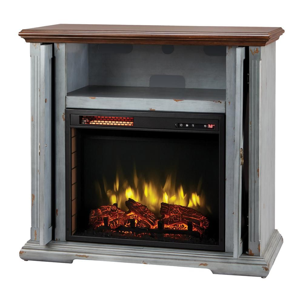 Hamilton 38 In Infrared Pocket Mantel Electric Fireplace Tv Stand