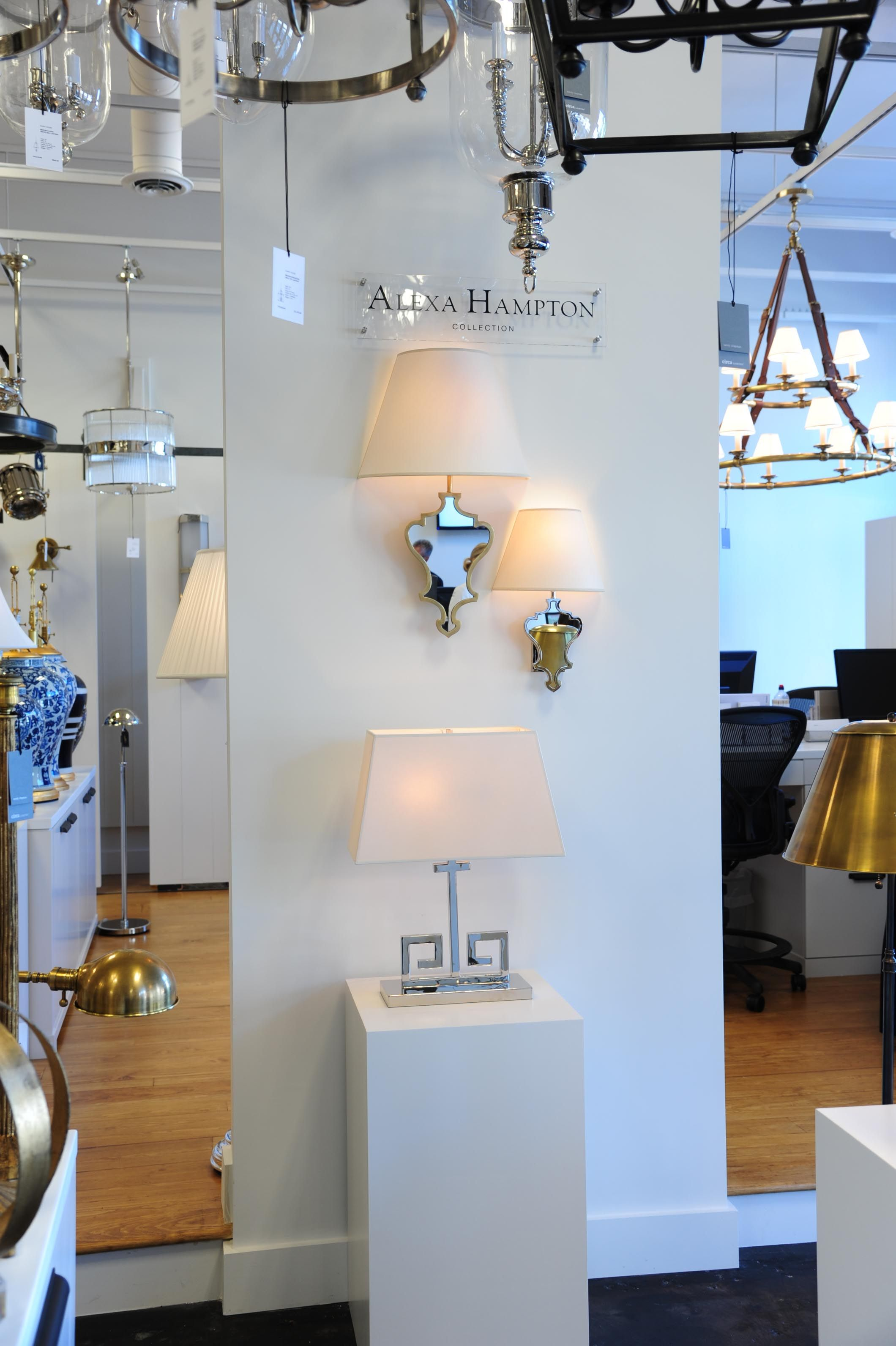 Atlanta showroom alexa hampton wall display