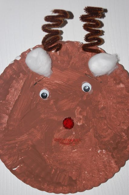 Kid Craft paper plate reindeer & Family Ever After....: Kid Craft: paper plate reindeer | Christmas ...