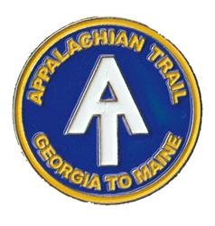 Appalachian Trail marker enamel pin