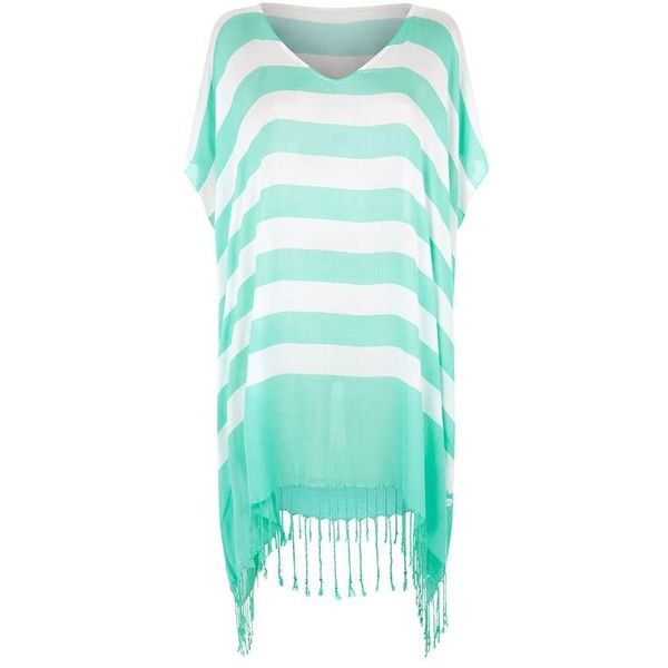 Seafolly Longitude Stripe Kaftan ($78) ❤ liked on Polyvore