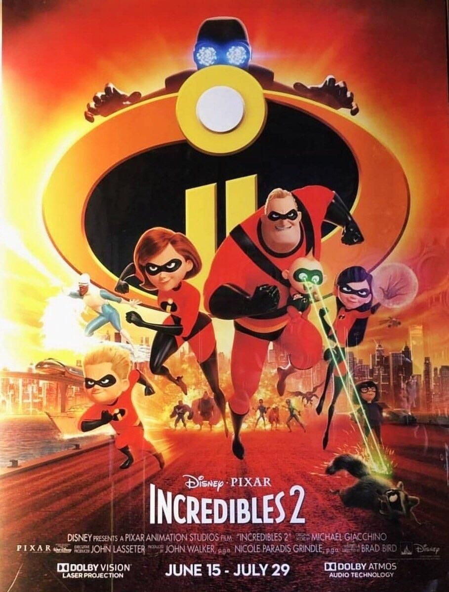 Incredibles 2 Movie Poster Disney Incredibles The Incredibles Family Movies